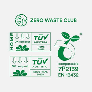 Zero Waste Club - 10L Compostable Bin Bags - Pack of 100 | The Ideal Sunday