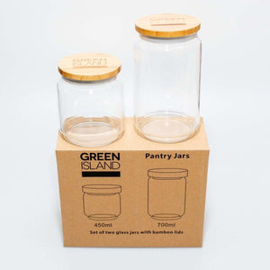 Green Island - Glass Pantry Jars - Set of 2 | The Ideal Sunday