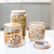 Load image into Gallery viewer, Green Island - Glass Pantry Jars - Set of 2 | The Ideal Sunday
