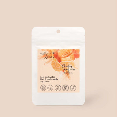Milly & Sissy - Hair & Body Wash Refill - Candied Tangerine 500ml | The Ideal Sunday