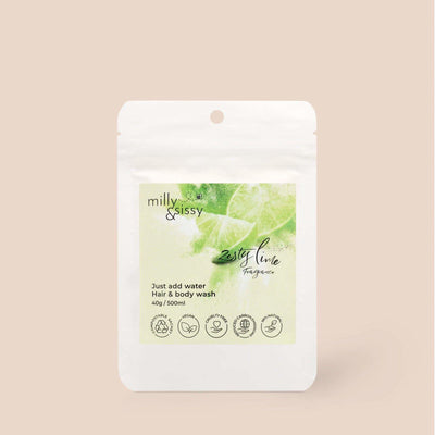 Milly & Sissy - Hair & Body Wash Refill - Zesty Lime 500ml | The Ideal Sunday