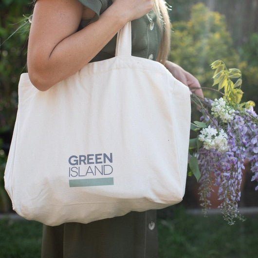 Green Island - Large Organic Shopping Bag | The Ideal Sunday