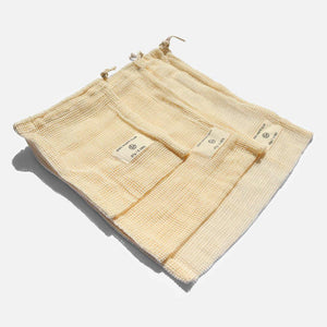 Zero Waste Club - Organic Cotton Mesh Bags - Pack of 9 | The Ideal Sunday