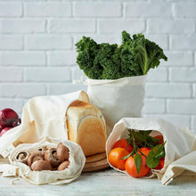 Load image into Gallery viewer, ecoLiving - Organic Produce Bags - 3 Pack | The Ideal Sunday