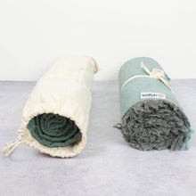 Load image into Gallery viewer, ReSpiin - Recycled Wool Zig Zag Throw With Fringe | The Ideal Sunday