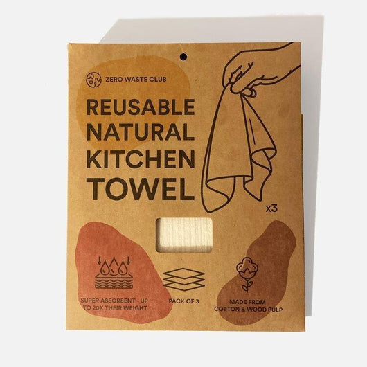 Zero Waste Club - Reusable Kitchen Towel - Pack of 3 | The Ideal Sunday
