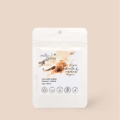 Milly & Sissy - Shower Crème Refill - Vanilla & Caramel 500ml | The Ideal Sunday