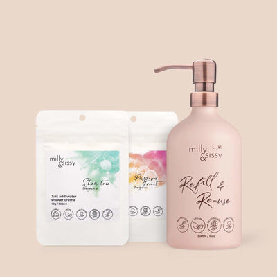 Milly & Sissy - Shower Crème Set + Dispenser | The Ideal Sunday