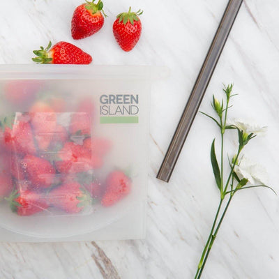 Green Island - Silicone Ziplock Pouch | The Ideal Sunday