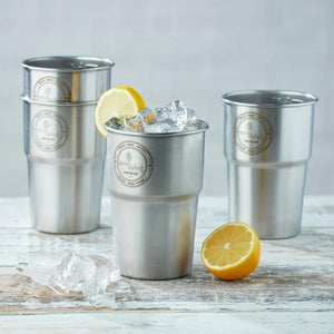 ecoLiving - Stainless Steel Cups - Pack of 4 | The Ideal Sunday