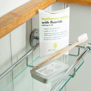 Eco Living - Toothpaste Tablets & Refillable Tin - Fluoride Free | The Ideal Sunday