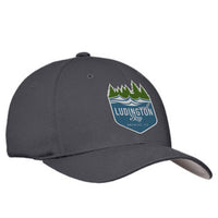 Ludington Bay Brewing Co. Flexfit Embroidered Cap - Grey