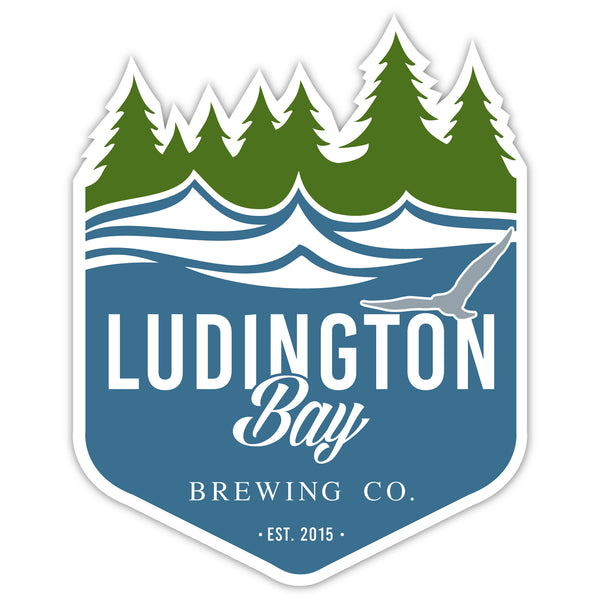 Ludington Bay Brewing Co. Badge Decal Sticker