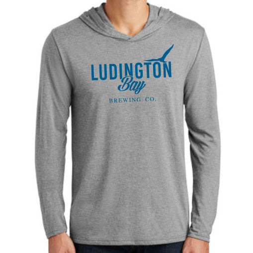 Ludington Bay Brewing Co. Men's Hooded Long Sleeve Tee