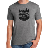 Ludington Bay Brewing Co. Men's Soft Style Badge Tee - Grey