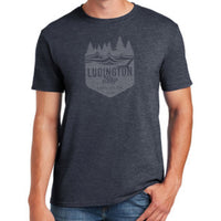 Ludington Bay Brewing Co. Men's Soft Style Badge Tee - Navy