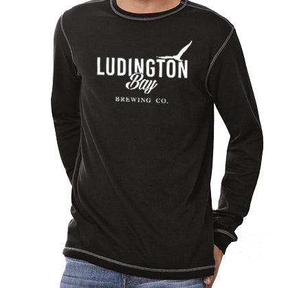 Ludington Bay Brewing Co. Men's Thermal Tee - Black
