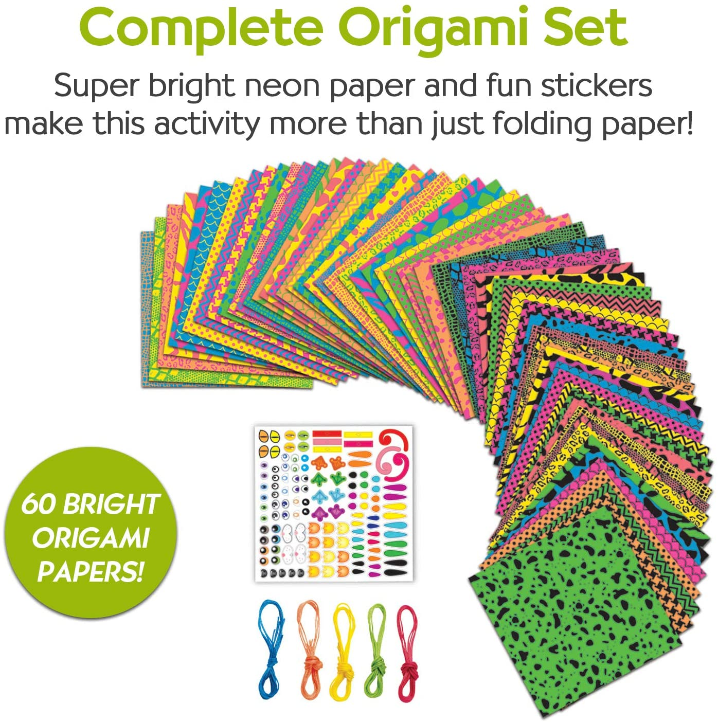 Origami Neon Papers