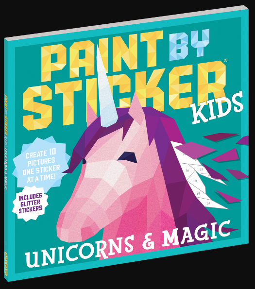 Paint By Numbers Stickers Kids Unicorns
