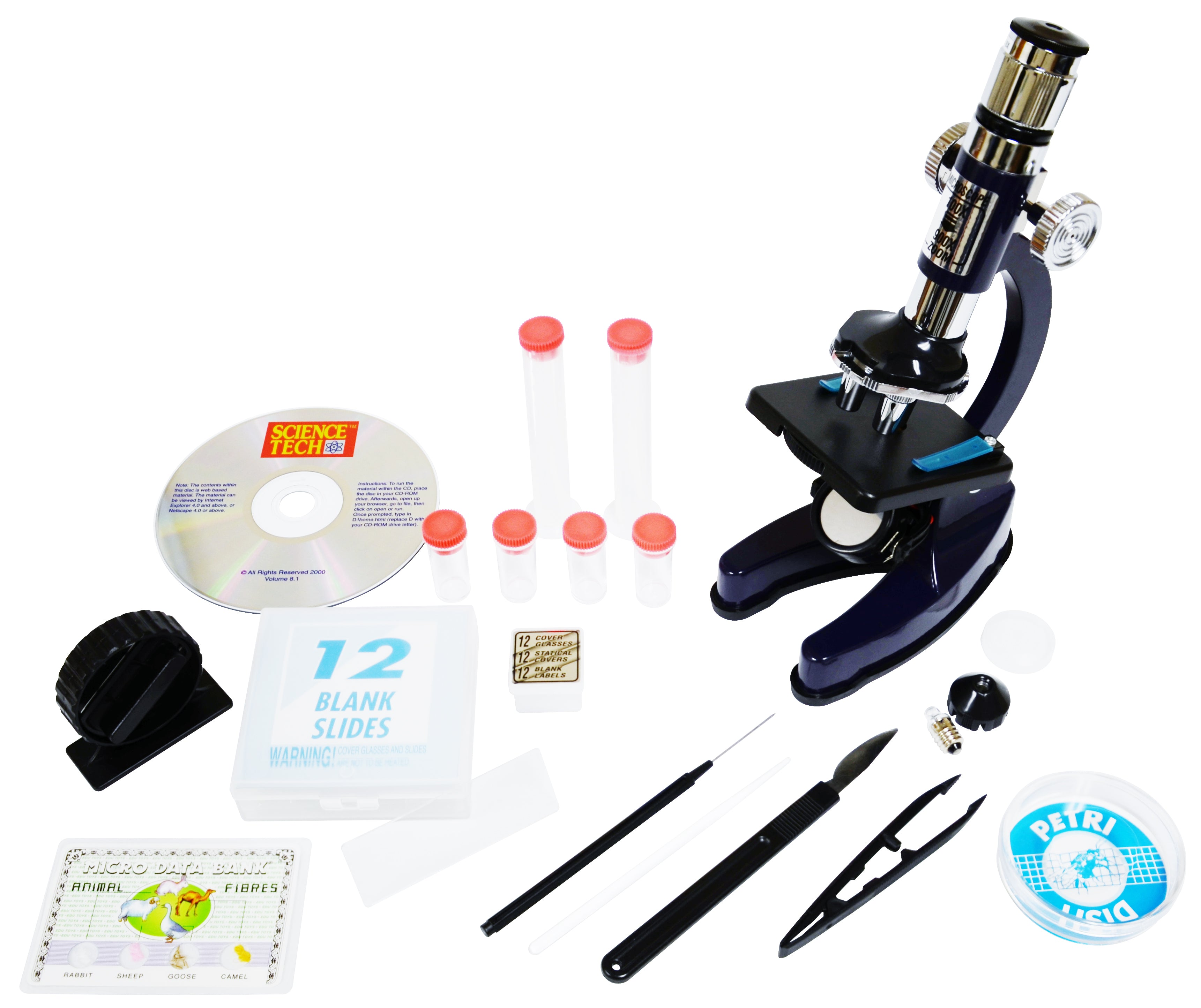 Microscope Set with Carrying Ca