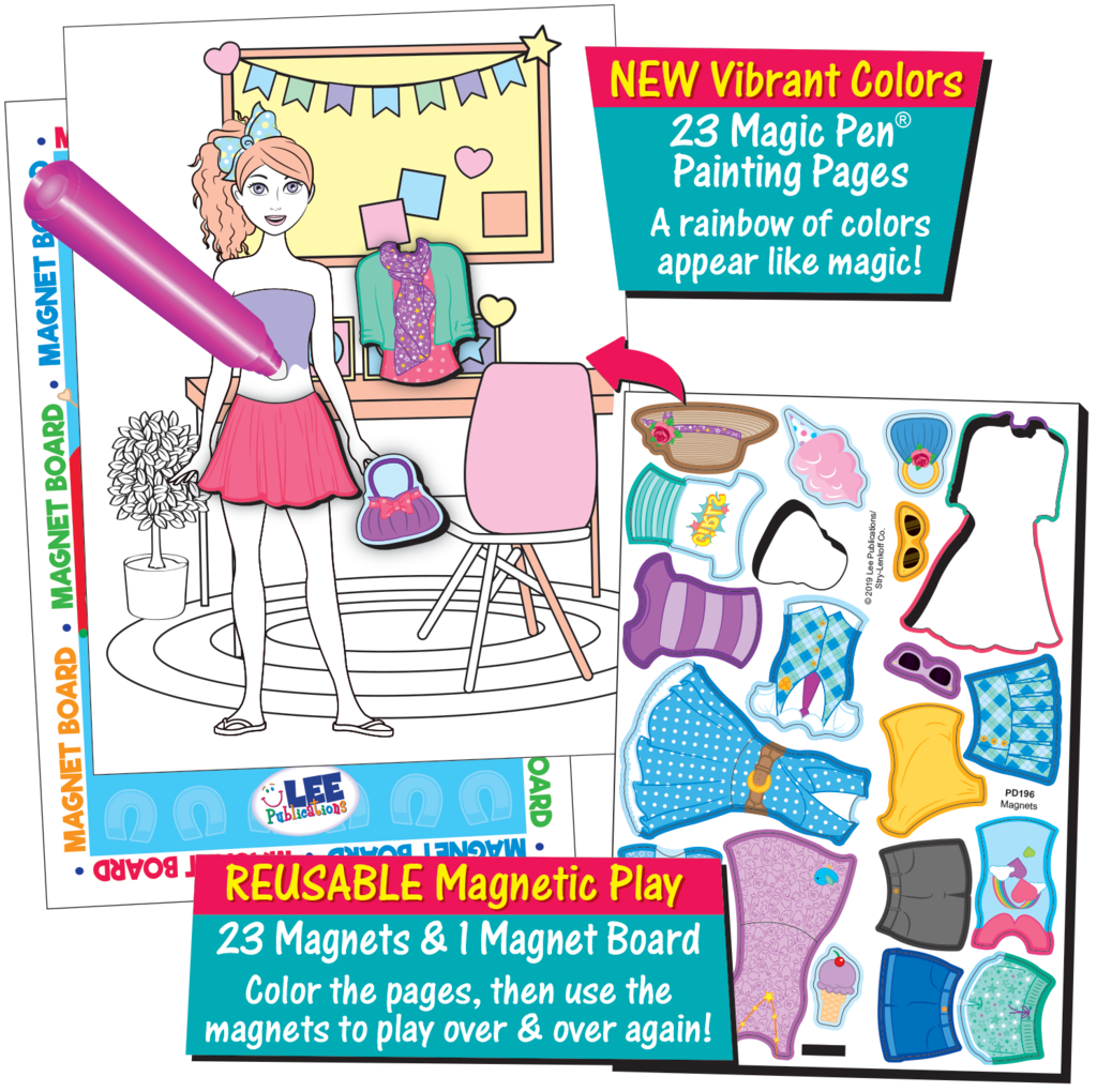 Magic Pen Painting Paper Dolls