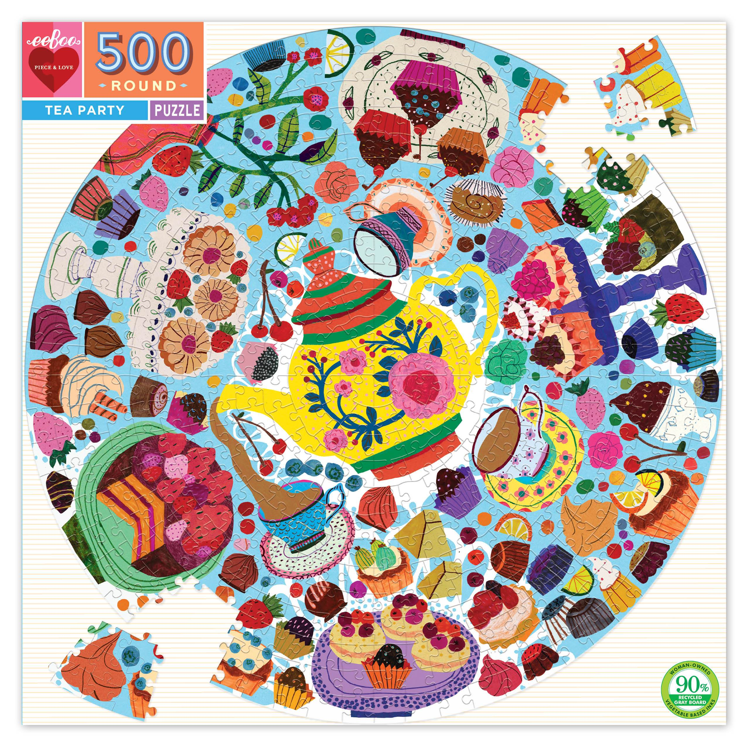 Tea Party 500 piece round