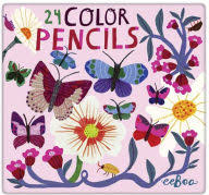 24 Color Pencils Butterflies &