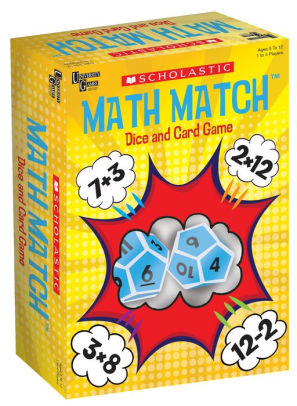 Math Match Dice and Card
