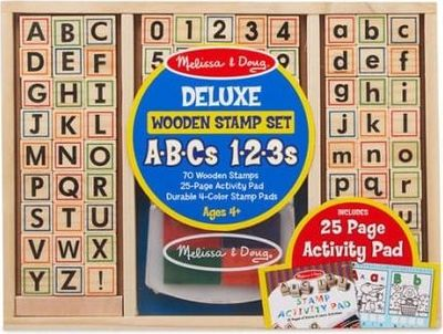 Wooden ABC Activity Stamp Set
