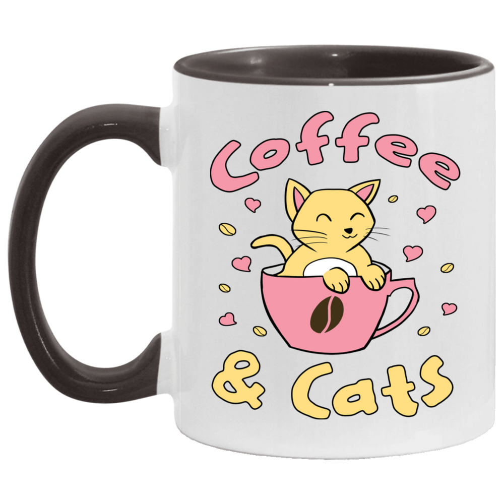 Coffee & Cats Accent Mug