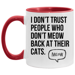 Meow Back At Their Cats Accent Mug