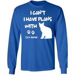 Personalized I Can't I Have Plans With My Siamese
