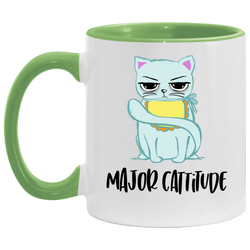 Major Cattitude Accent Mug