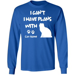 Personalized I Can't I Have Plans With My Scottish Fold