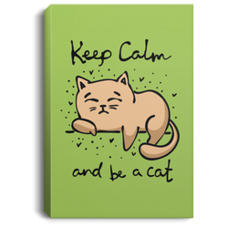 Keep Calm And Be A Cat Canvas Art