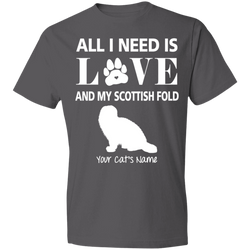 Personalized All I Need Is Love And My Scottish Fold