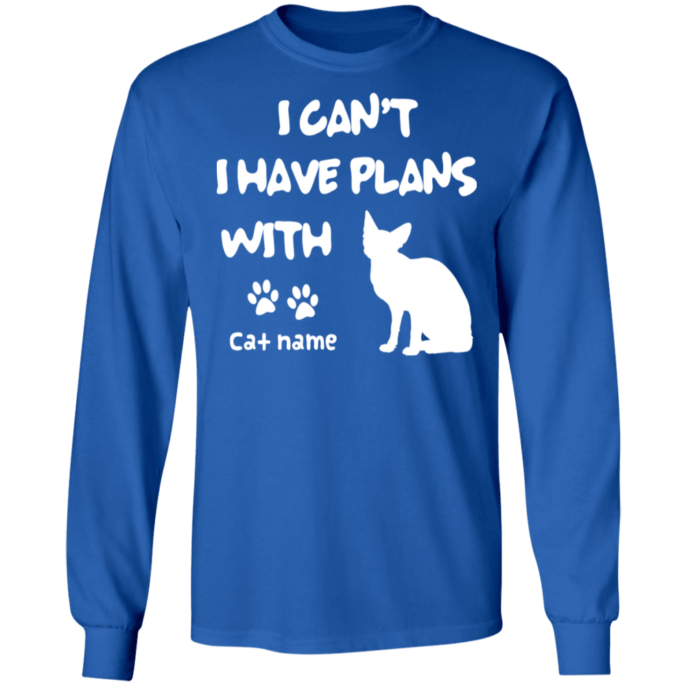 Personalized I Can't I Have Plans With My Sphynx