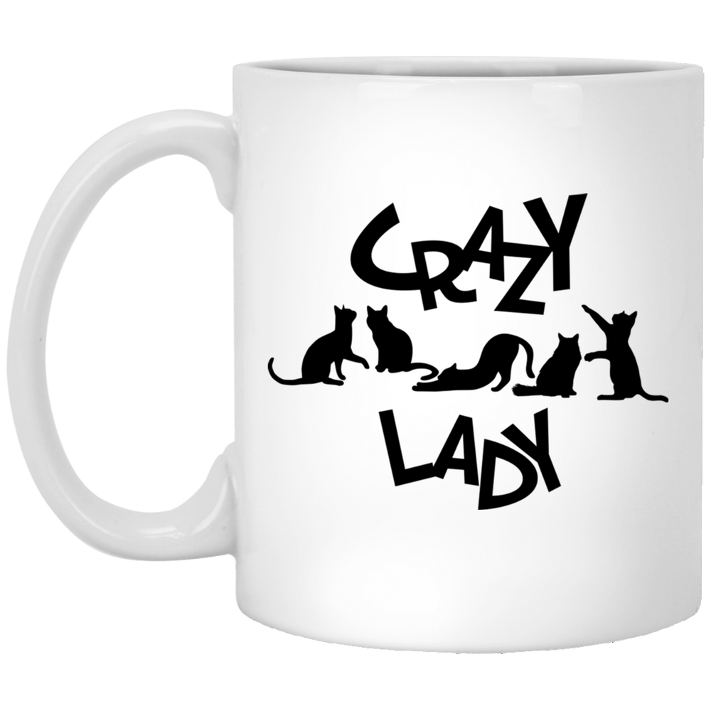 Crazy Cat Lady White Mug