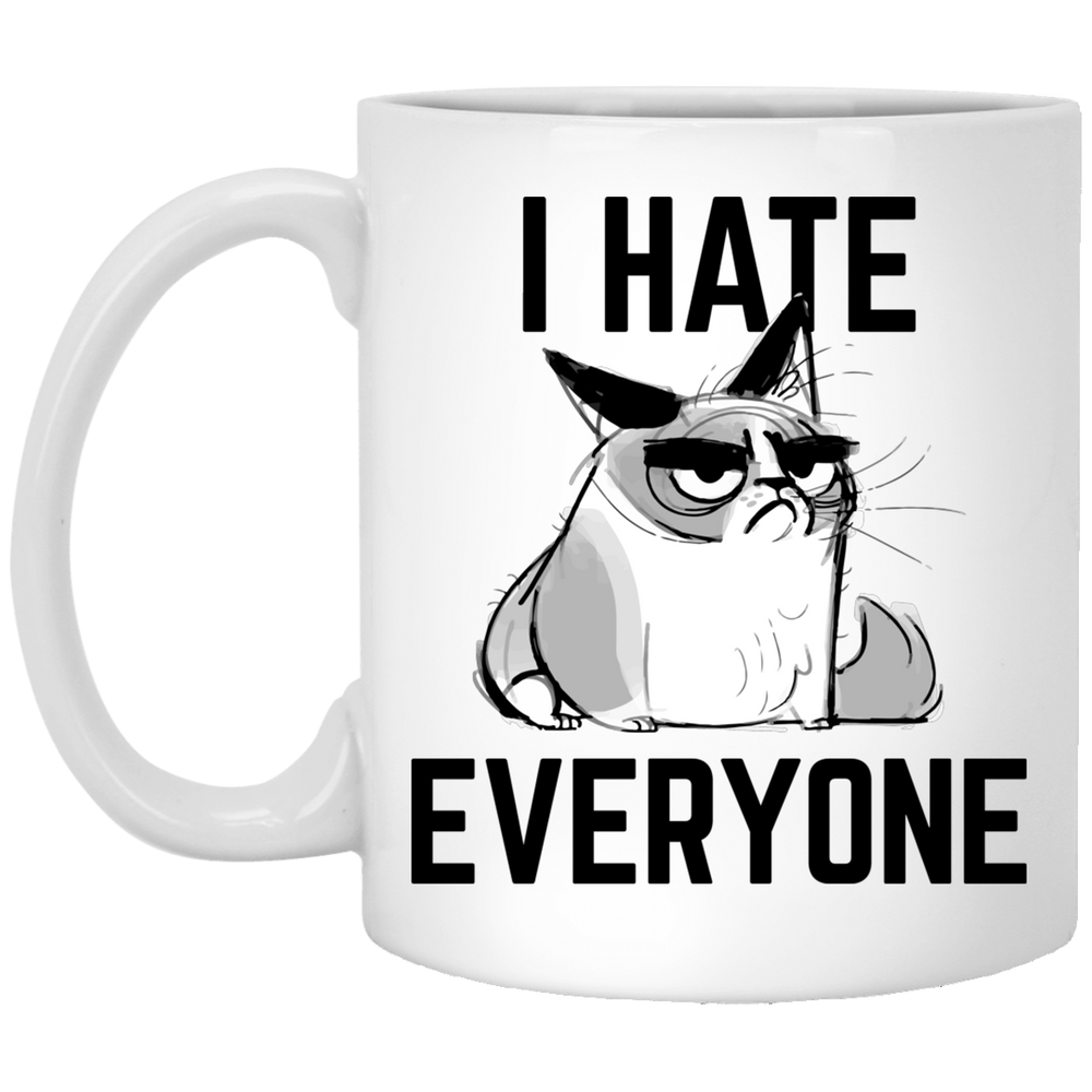 I Hate Everyone White Mug