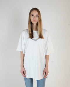 OVERSIZED LOGO T-SHIRT - WASHED OFF-WHITE