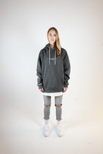 Load image into Gallery viewer, OVERSIZED LOGO HOODIE - WASHED GRAY