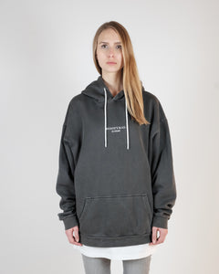 OVERSIZED LOGO HOODIE - WASHED GRAY