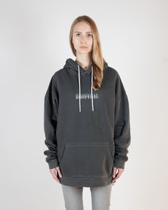 FEAR OVERSIZED HOODIE - WASHED GRAY