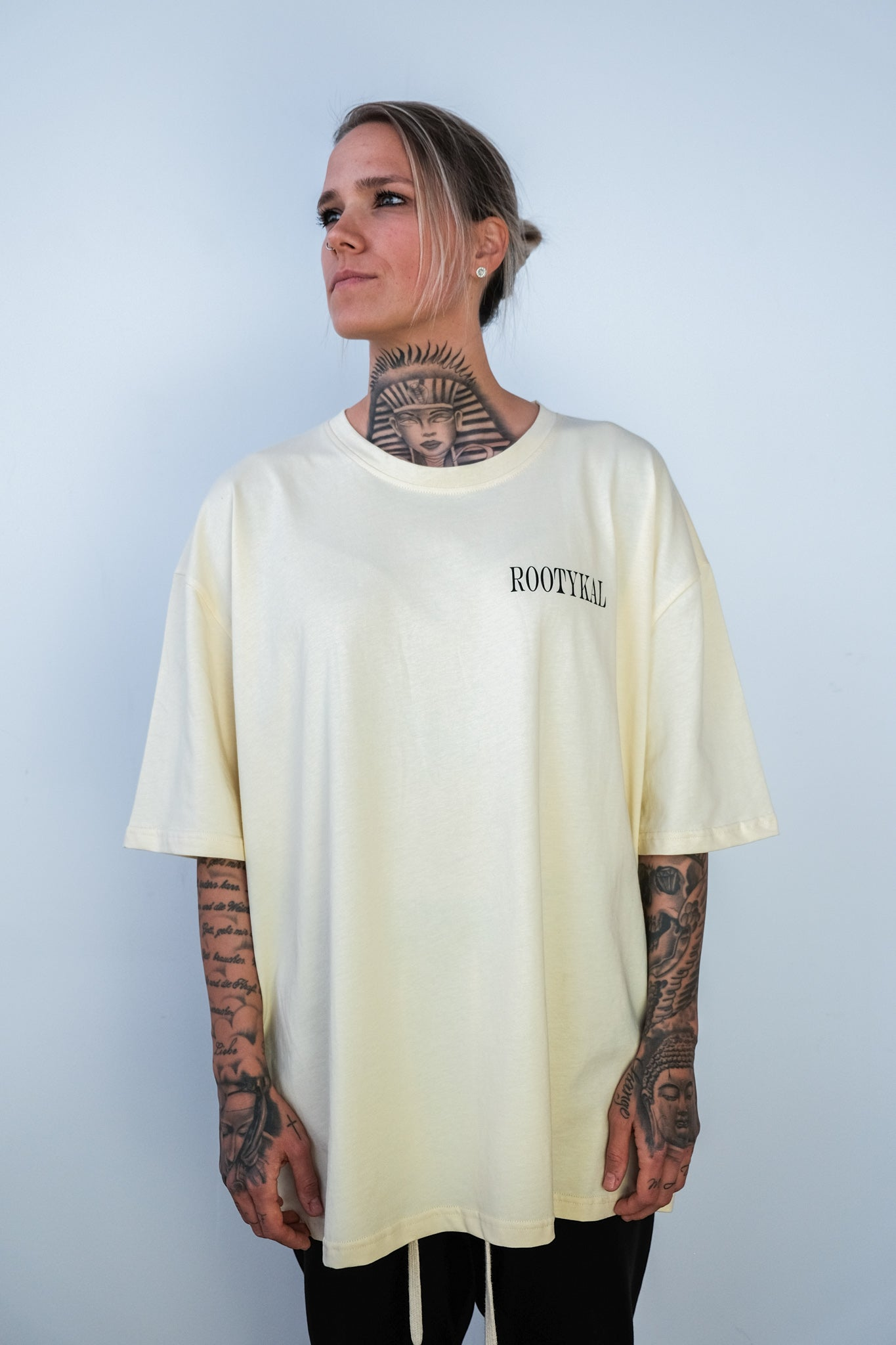 FEAR OVERSIZED T-SHIRT - VANILLA