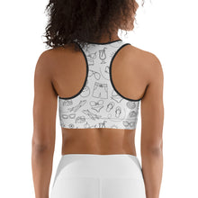 Load image into Gallery viewer, Abstract sport bra