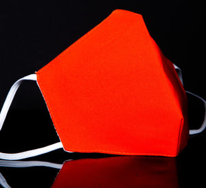 Solid Orange Fashion Face Coverings