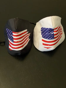 USA Flag Face Masks - 2 Pack