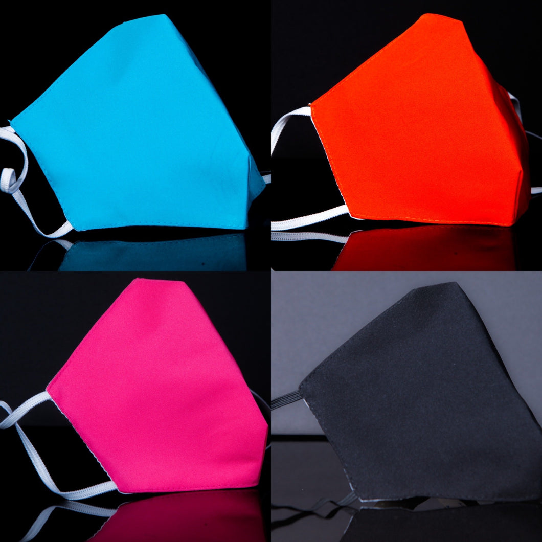 Solid (Hot Pink/Aqua/Black/Red) Fashion Bundle Face Coverings