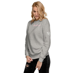 DAG Pink Back Up Fleece Pullover
