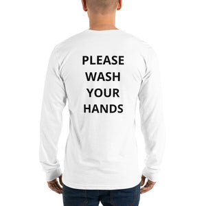 DAG Long sleeve t-shirt White- Wash your hands